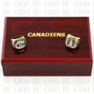 2PCS Sets 1986 1993 Montreal Canadiens Hockey championship Rings 10-13S+ Logo wooden box