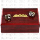 2 PCS 1996 2001 COLORADO AVALANCHE NHL Hockey Championship Ring 10-13 Size with Logo wooden box