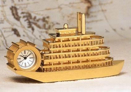Bulova Miniature Clock Riverboat B0018