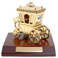 Bulova Mini Limited Edition Solid Brass Muscial Coach Clock B0019
