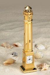 Bulova Alcatraz Lighthouse Miniature Clock - B0427