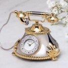 Bulova Miniature Clock Antique Telephone B0431