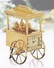 Bulova Flower Cart Miniature Clock - B0432