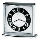Bulova Arcade black and silver clock B8480