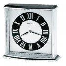 Bulova Arcade black and silver clock B8480