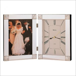 Bulova B1254 Ceremonial Picture Frame Clock