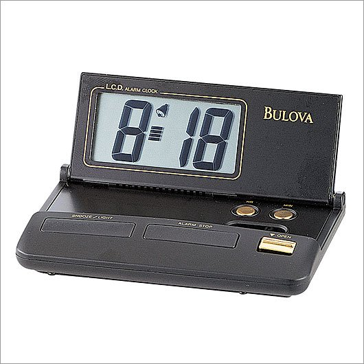Bulova B6973 Reflex Travel Clock