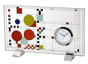 Bulova B7757 Frank Lloyd Wright Coonlye Playhouse Clock