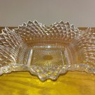 Vintage Depression Glass Candy Dish or Ashtray with Ruffled Edges