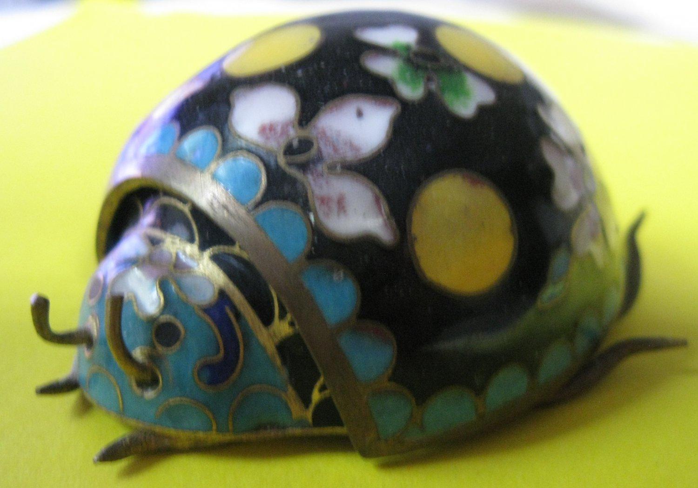 Very Cute Vintage Lady Bug Trinket Box