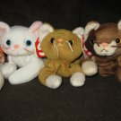 LOT OF 4 RETIRED BEANIE bABIES NIP, SNIP, FLIP,& POUNCE ALL WITH PVC PELLETS