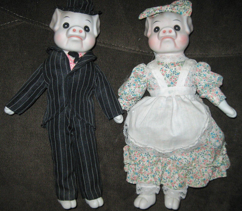 Vintage Ceramic Pig Dolls