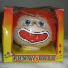 1984 Funny Baby Clown Head New In Box