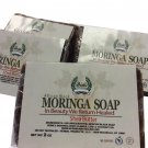 Pure Moringa Soap, Shea Butter African Black Soap 2oz - Hi-Potency African Grown