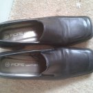 Ladies black leather Fiore shoes size 4