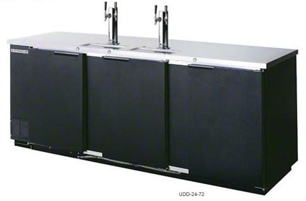 """Black 72"""" Back Bar Cooler Kegerator Beer Dispenser Refrigerator 3 KEGS"""