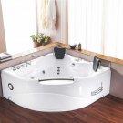 2 Person Indoor Hot Tub Jetted Bathtub Sauna Hydrotherapy Massage SPA + Shower