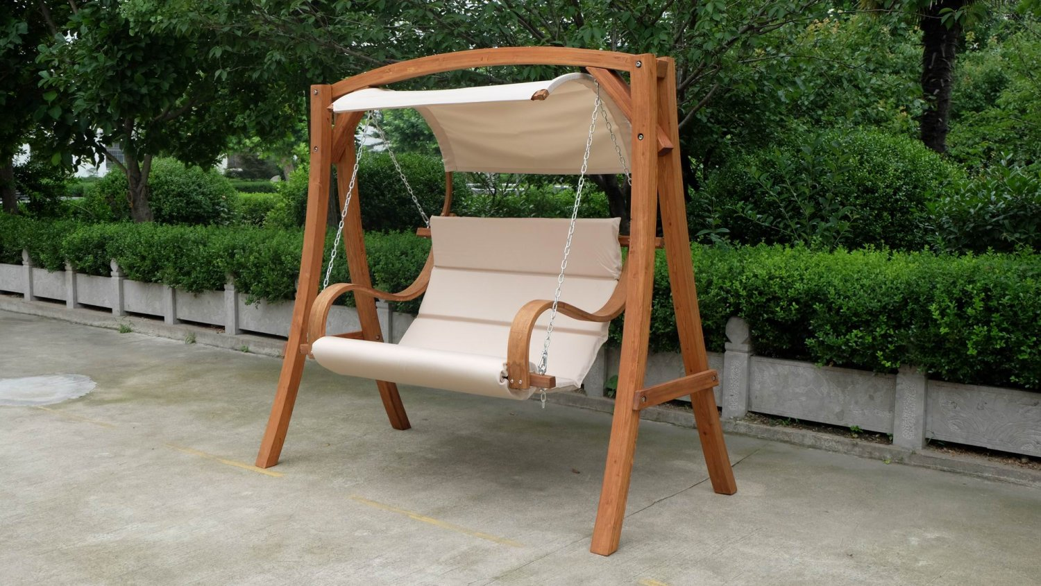 New 2 Person Swing Hammock Chair Love Bench W Canopy