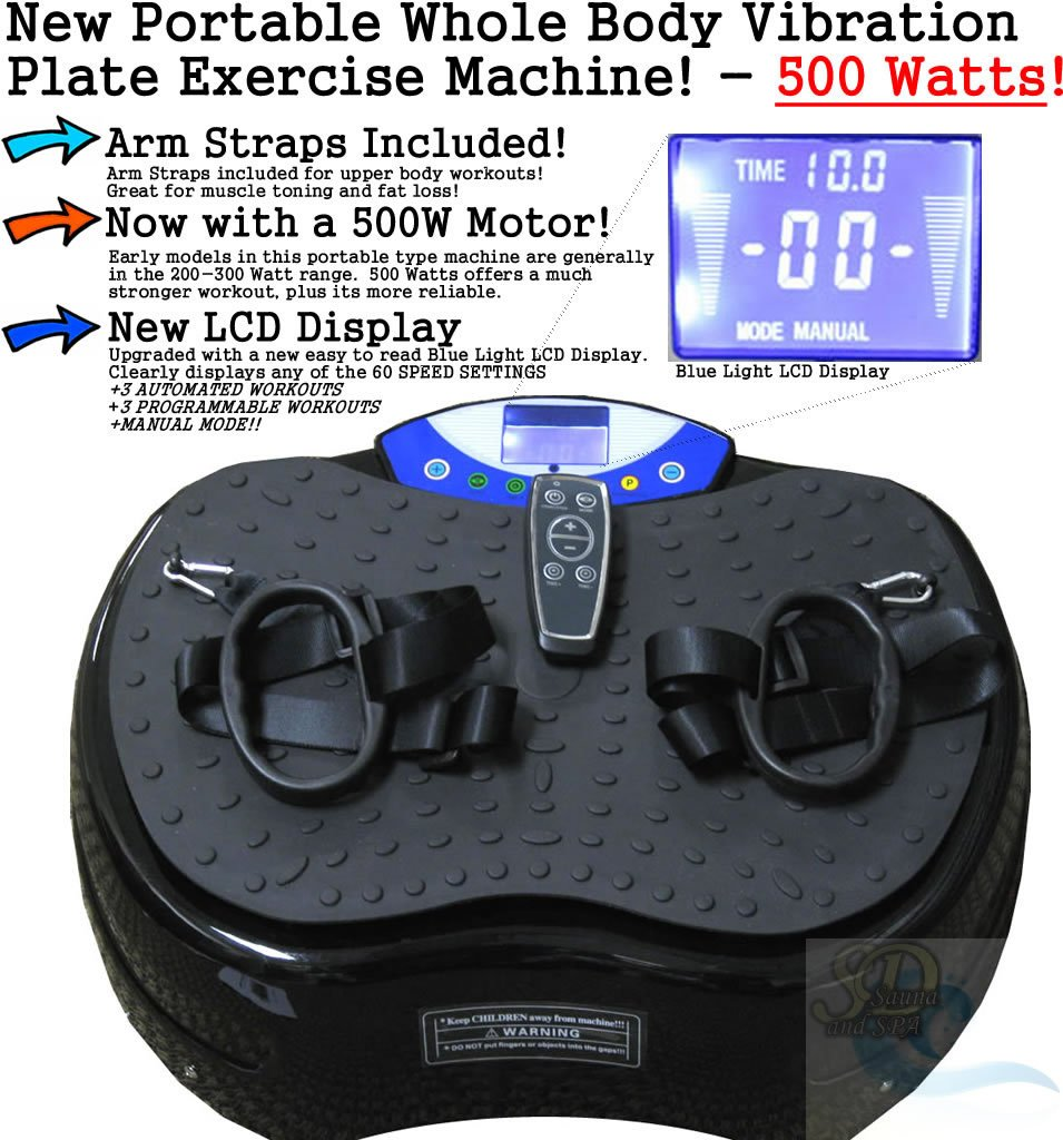 Whole Body Vibration Plate Exercise Machine Massage Platform Crazyfit