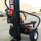 50 Ton Commercial Grade Hydraulic Wood Log Splitter 15HP 420cc Gas Engine