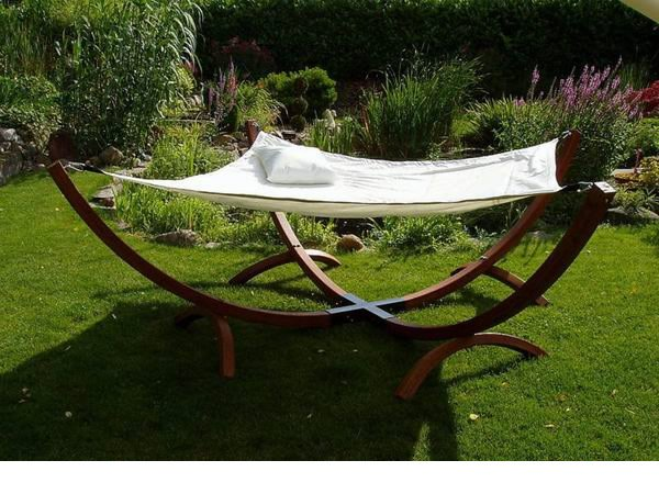 New Double Arched Two 2 Person Hammock Bed Lounger w/ Textiline Fabric Upgrade