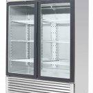 """MCF8703 Commercial 55"""" Glass 2 Double Door Freezer Reach In Merchandiser Cooler"""