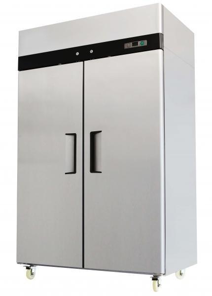 2 Double Door Commercial Stainless Steel FREEZER MBF8002 MBF-8002 44.5 Cu Ft
