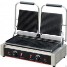 Commercial Stainless Steel Countertop Double Panini Sandwich Grill Press