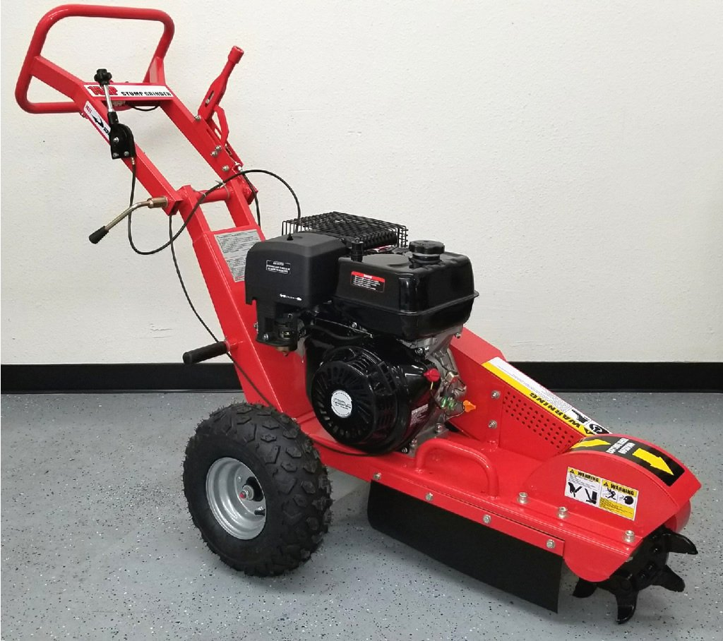 15HP Gas Powered Walk Behind Stump Grinder Wood Cutter