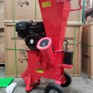 """15HP 420CC Gas Powered Wood Chipper Shredder 4"""" Capacity w/ Mulch Bag"""