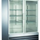"CFD-2RR-G 54"" Two Section Glass Door Reach-In Refrigerator with LED Lighting"