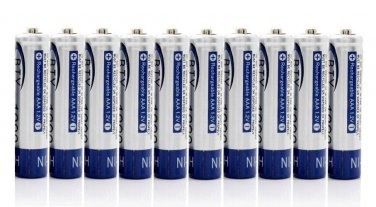 10 TRIPLE A AAA 600MAH 1.2V NIMH RECHARGEABLE BATTERY FOR SOLAR GARDEN LED LIGHT