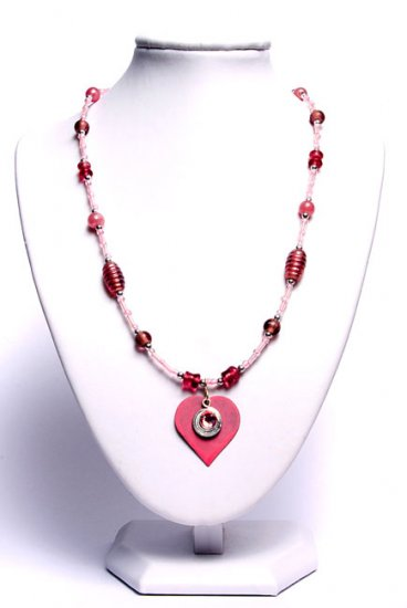 Gorgeous Pink Heart Pendant Necklace