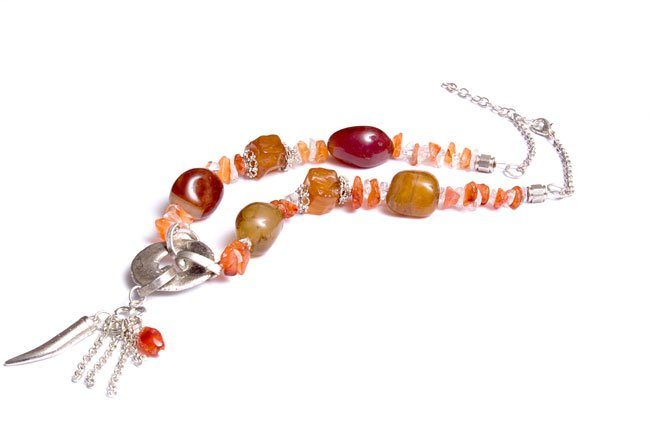 Red Aventurine Beaded Necklace