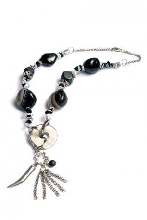 Smoky Quartz Beaded Necklace