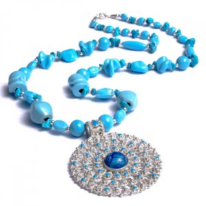 Cool Water Blue Necklace