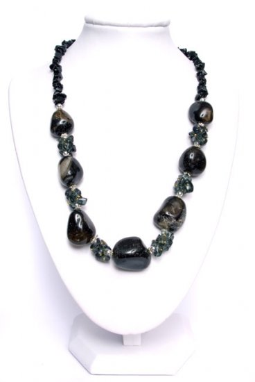 Classic Black Calcin Necklace