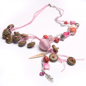 Pretty in Pink Beaded Necklace