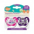 My Mom Rocks & Purple Skull Pacifiers 6-18M, Unisex, Expression Collection