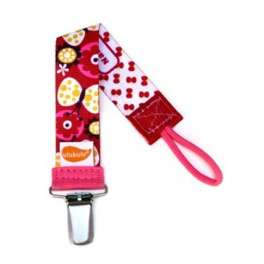 Butterfly Kisses Personalized Pacifier Clip - Girls, Butterflies