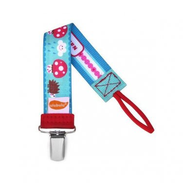 Happy Cappy Personalized Pacifier Clip - Unisex, Mushrooms