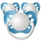 Set of 3 Personalized Pacifiers by Ulubulu, Light Blue, Boys