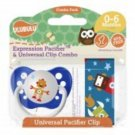 Robonaut Pacifier and Universal Clip Combo 0-6M