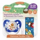 Robonaut Pacifier and Universal Clip Combo 6-18M