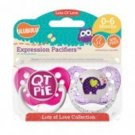 QT Pie and Elephant Pacifiers - 0-6M, Girls, Lots of Love Collection, Ulubulu