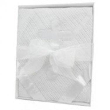 Woven Cross Blanket - White, Unisex, Stephan Baby