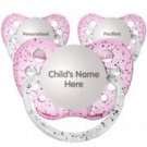 Set of 3 Personalized Pacifiers by Ulubulu, Glitter Pink, Girls