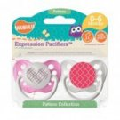 Pink Plaid Heart & Pink Moroccan Pacifiers - 6-18M, Girls, Patterns Collection