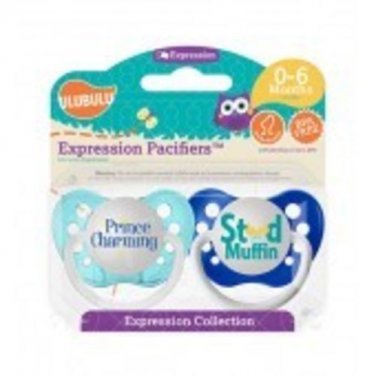 Prince Charming & Stud Muffin Pacifiers 0-6M, Boys, Expression Collection