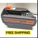 Black & Decker 20V Lithium Ion Battery 1.5Ah LBXR20 - New OEM Replacement - Drill etc